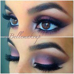 gorgeous eye, color, purple eye makeup brown eyes, purpl eyeshadow, brown eyed girls, beauti, green eyes, purple makeup for brown eyes, makeup contouring