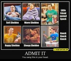 Soft Sheldon, warm Sheldon...