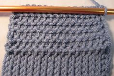Tunisian crochet purl stitch - softer than the basic stitch #DIY #craft #crochet