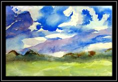 How to Paint Gorgeous Clouds with Watercolor-- 5th and 6th Grade