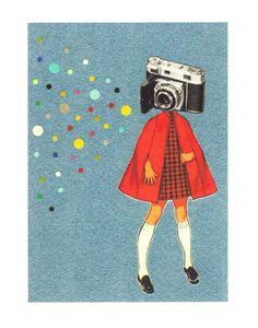 Camera Shy. #etsy #print