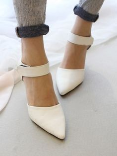 Suede Pointed Heeled Shoes | Choies by Feed