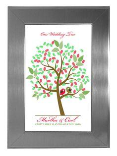 Finger Print Tree Wedding guest book