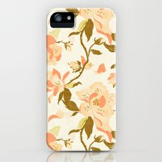 smitten list . Magnolia Pattern iPhone Case++ via conundrum / @Maia McDonald