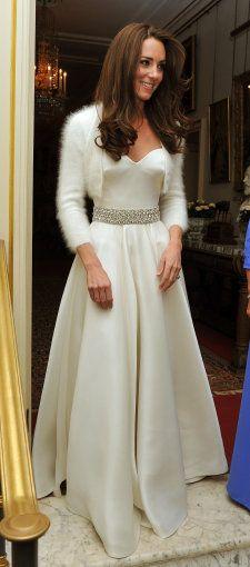Catherine, Duchess of Cambridge, in her wedding Reception Gown