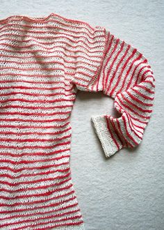 summer sweater, summer shirt, stripe summershirt, purl bee