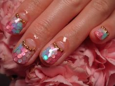 Mermaid Inspired Nail Art    #beauty #nailart #nails