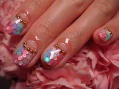 Mermaid Inspired Nail Art    #beauty #nailart #nails