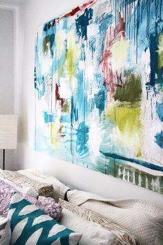 wall art, headboard, diy painting ideas on canvas, living rooms, art diy