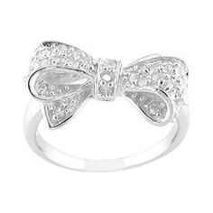 bling, silver bow, fashion, cloth, accessori, bows, beauti, bow ring, engagement rings
