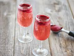 Sorbet Champagne Cocktails