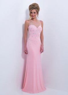 Black by Blush C163 - Blush Slim Fit Sheer Back Prom Dresses Online
