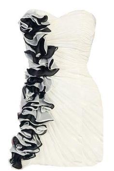 Cascading Corsage Dress