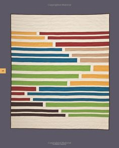 "Interesting landscape-esque quilt from the book ""Modern Minimal"" by Alissa Haight Carlton."