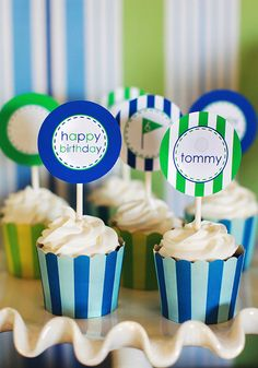 Printable Party Circles - Golf Party Collection - The TomKat Studio. $12.50, via Etsy.