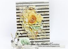 New Prima *COFFEE BREAK * collection - Scrapbook.com - Gorgeous soon to arrive Prima products make a stunning card.