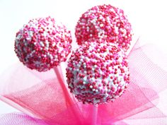 sweet, pink cakes, bake pop, food, cakepop recip, cake pops, parti idea, simpl cakepop, treat