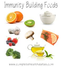 Build your immunity with these healthy Foods. These immunity building foods can help keep you feeling your best!    http://www.facebook.com/pages/Dr-Jeremy-Websters-Complete-Health-Weight-Loss/107930235997204