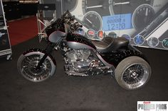 SEMA isn't all about cars...but it is mostly about cars. We like this Harley-Davidson trike.