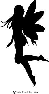Fairy Stencil - 2 fairi stencil