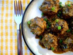 Curry meatballs from PaleOMG . I used the ground turkey and LOVED them.  Very flavorful and the kids devoured them!