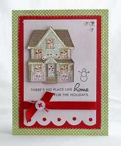 No Place Like Home Card by Melissa Phillips for Papertrey Ink (September 2008)