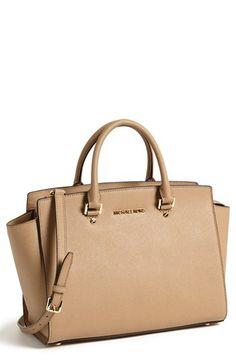 Khaki nude saffiano leather Michael Kors bag - Selma