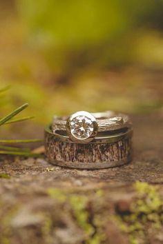 deer horns, camo wedding, branch, rustic weddings, custom jewelry