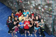 Did you know that our indoor rock wall offers team building events? Great for any organization that enjoys time together!