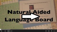 Video of the Week: 10 Tips for Using a Natural Aided Language Board by Gail Van Tatenhove