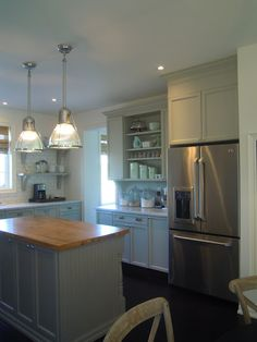 builder grade kitchen turned custom - Just beachy