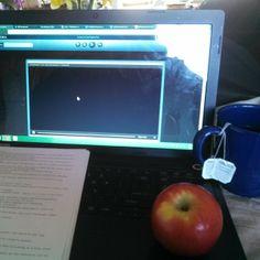 @Ashleigh Barbee Gooodmoring #paperwriting #goodearth #goodearthtea #tea #apple #computer #morning #school #class