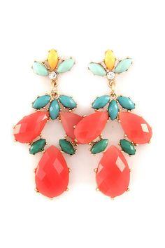 Lani Chandelier Earrings in Poppy on Emma Stine Limited