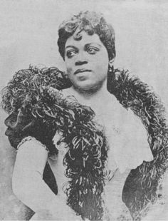 "Singer Sissieretta Jones, often referred to as ""The Black Patti"" (in reference to Italian opera singer Adelina Patti). Ms. Jones sang grand opera, light opera, and popular music. Click here to check out a short video from Carnegie Hall's Youtube channel that talks about Ms. Jones and her accomplishments."