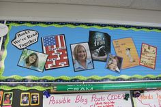 An ongoing border in Franki Sibberson's room shows a timeline of the books they've read together. What a great idea!