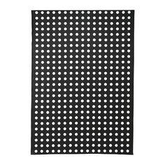 LIALOTTA Plastic-coated fabric - black/white  - IKEA