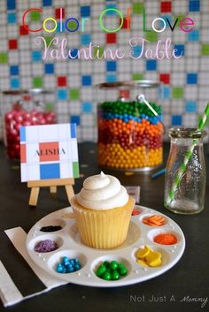 Decorate your own cupcakes- rainbow party, color of love valentines party... Really can fit a lot of themes just change the colors and types of decoration/sprinkles