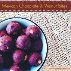 Mexican Chocolate and Walnut Healthy Bites