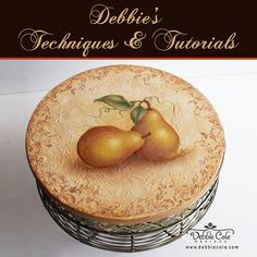 Old world pears with Debbie Cole.