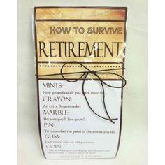 Survival Kit - Retirement retir gift, fun idea, retir idea, creativ ...