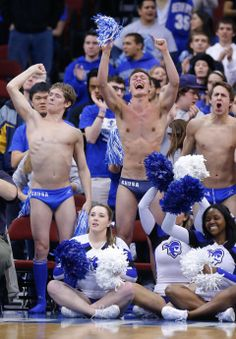An http://www.GogelAutoSales.com RePin     Seton Hall Pirates cheerleaders and swim team members cheer on the Pirates     We'd Love you to Like us on FB! https://www.facebook.com/GogelAuto  Since 1962, Rt. 10, East Hanover