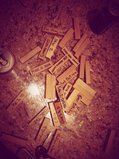 Party Jenga.....plain Jenga Blocks with your own creative ideas written on each one