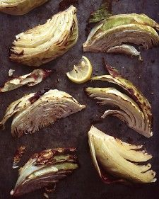 ROASTED CABBAGE W/OLIVE OIL AND LEMON