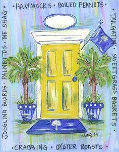SC door in blue $24 personalized  www.facebook.com/thepinkcroc  thepinkcroc@yahoo.com