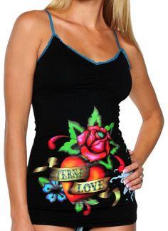 CLICK IMAGE TWICE FOR PRICING AND INFO :) #bra #bras #shelf #shelfbra #shelfbras #womens #intimates  SEE A LARGER SELECTION FOR the shelf bra at http://zwomensbra.com/category/bra-categories/shelf-bra/ -  Ed Hardy Women's Shelf Bra Camisole,Black,Medium « Z Womens Bra