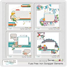 Fuss Free: Iron Scrapper Elements by Fiddle-Dee-Dee Designs