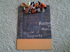 WELCOME to the Team!! A teacher inspired clipboard, what?! How neat!   Teacher Clipboard by Designs by Shelby on Etsy, $13.00