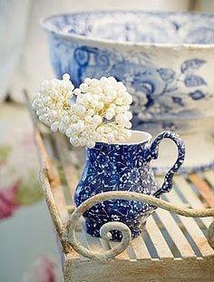 Blue pitcher