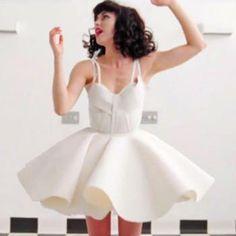 kimbra white dress
