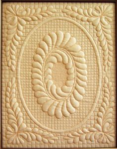 A beautiful example of Trapunto Quilting!